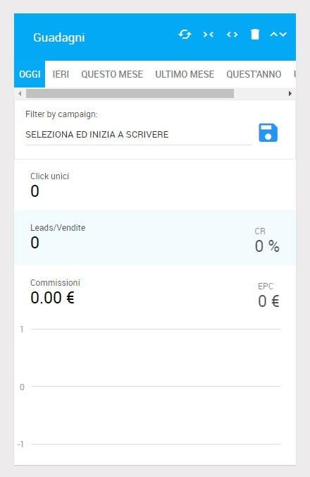 Affiliate marketing: schermata guida