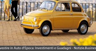 investire in auto d'epoca