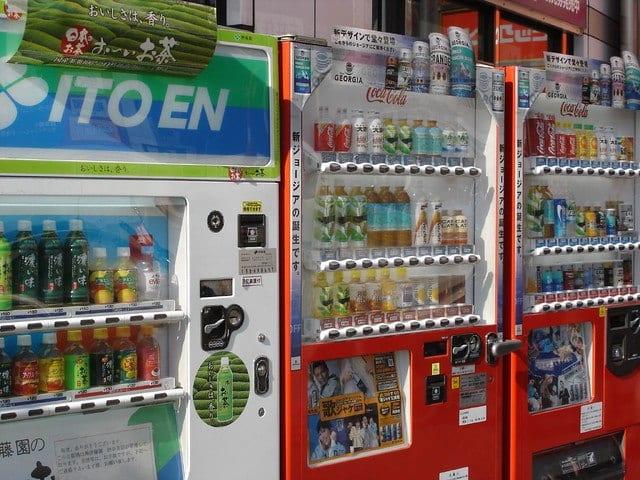 distributori automatici in Giappone