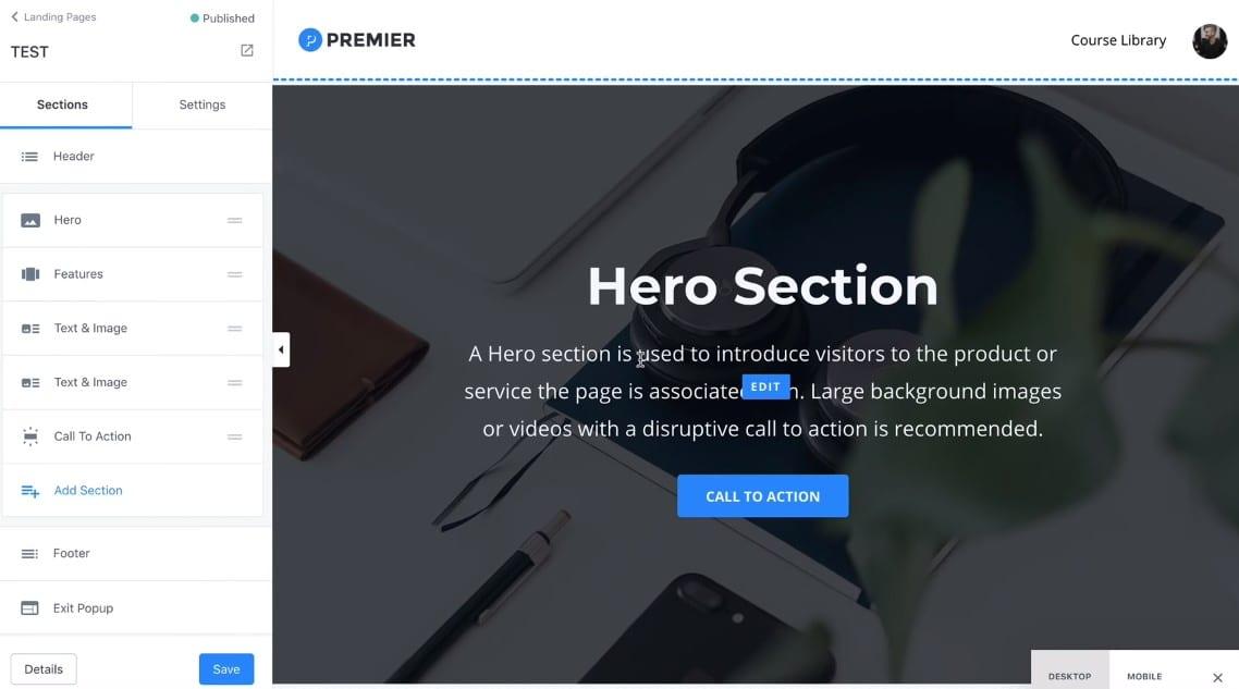 Kajabi: creazione sito