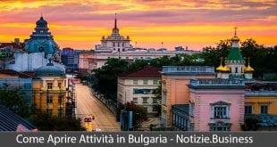 aprire attività in bulgaria