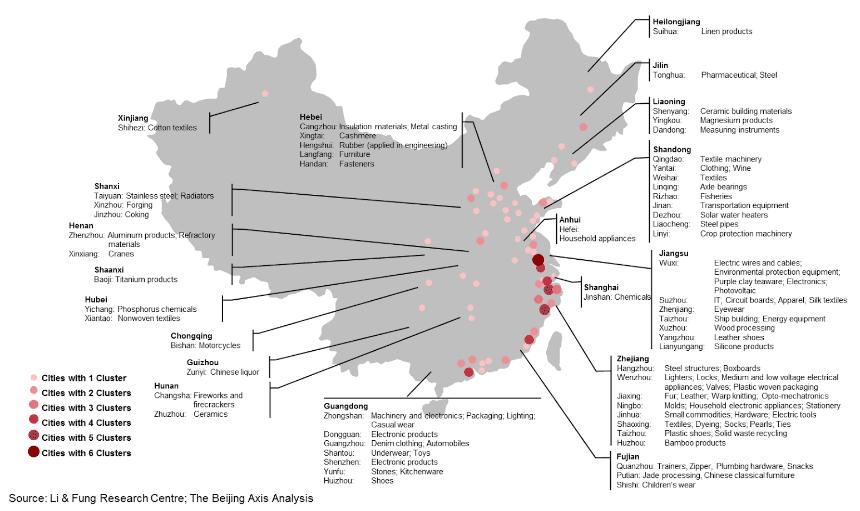 mappa province fornitori alibaba