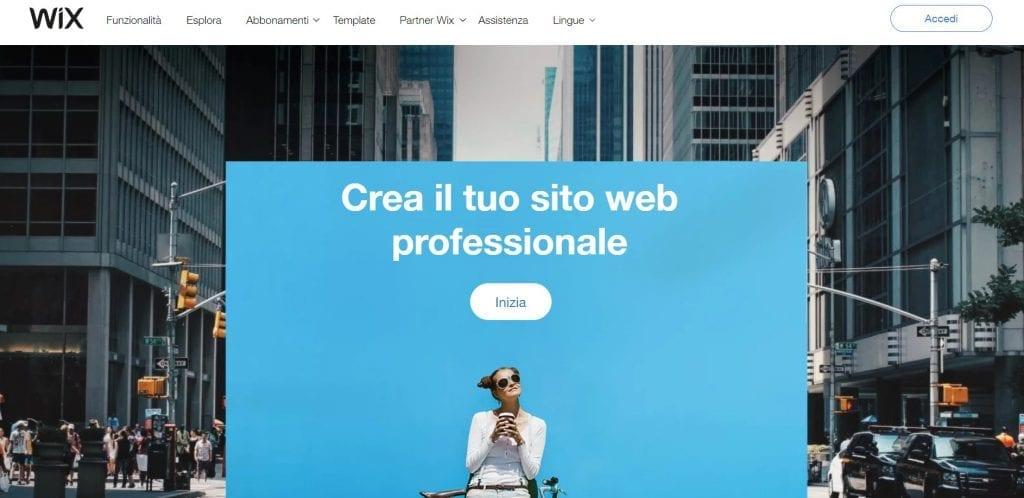 wix pagina iniziale