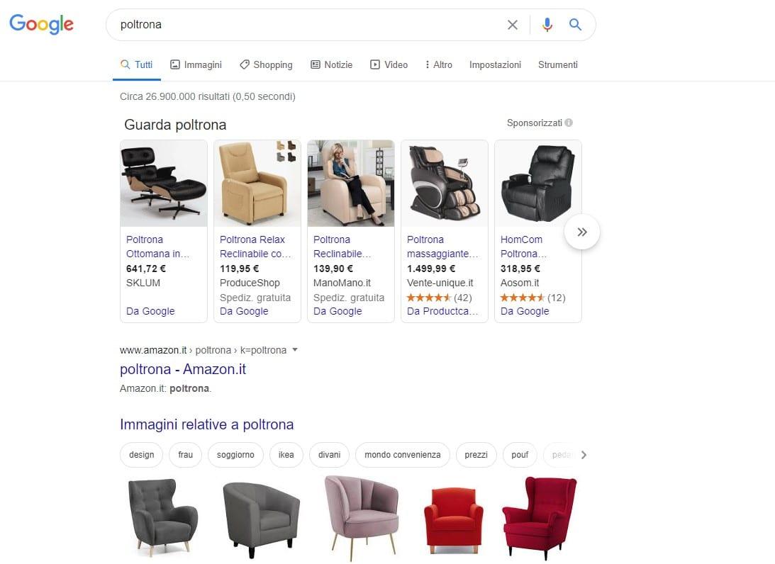 Google Shopping Poltrona