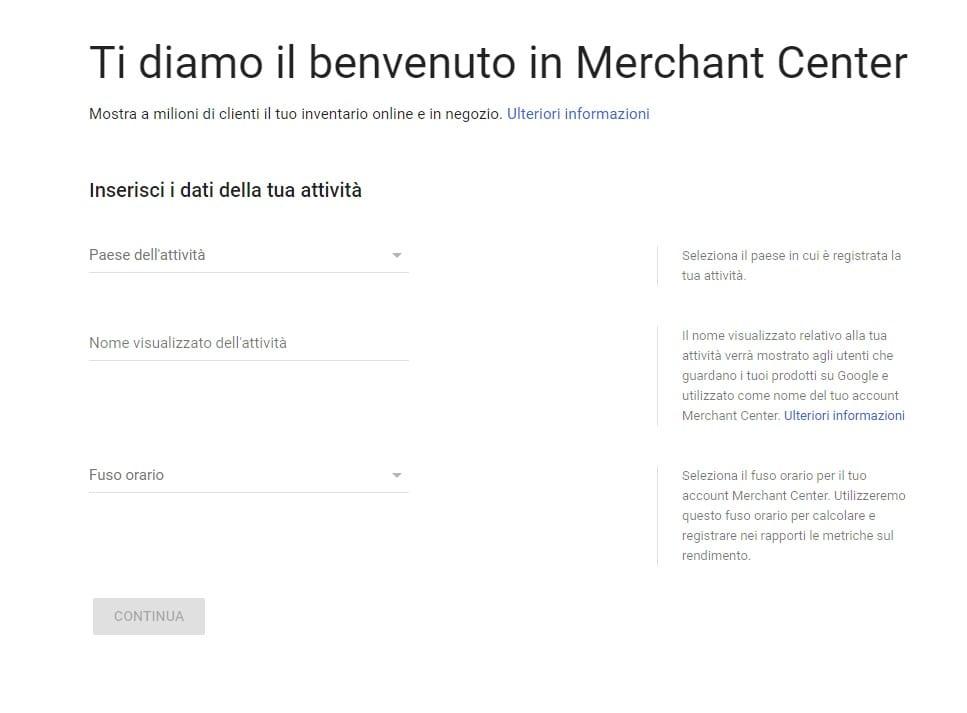 Google Shopping Merchant Center