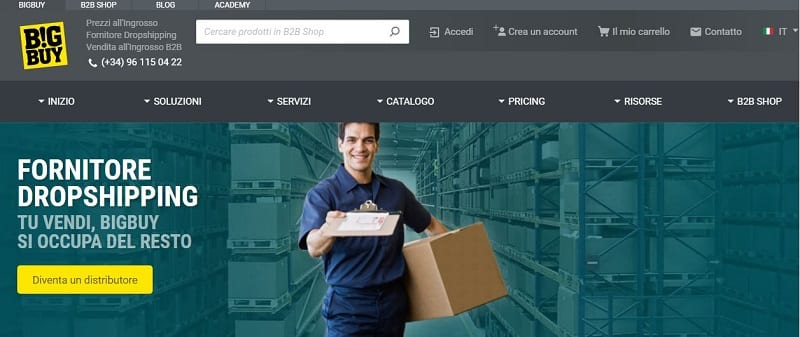 BigBuy presenta un catalogo vastissimo e condizioni di vendita estremamente favorevoli