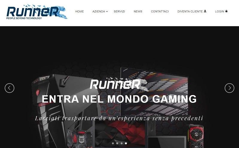Runner distribuisce una lunga serie di prodotti tecnologici e per l'informatica