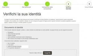 Verifica identità account Oanda