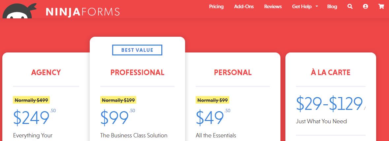 form builder costi