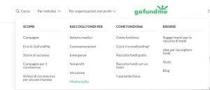 struttura piattaforma gofundme