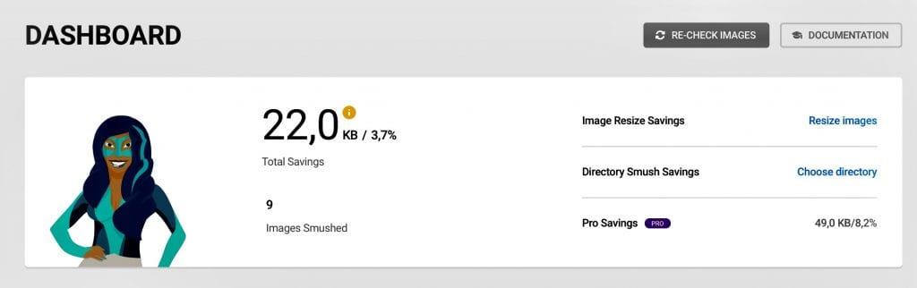 Dashboard percentuale