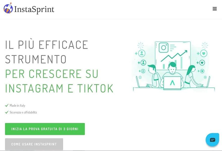 Instasprint è molto popolare in Italia in quanto il supporto è interamente nella nostra lingua