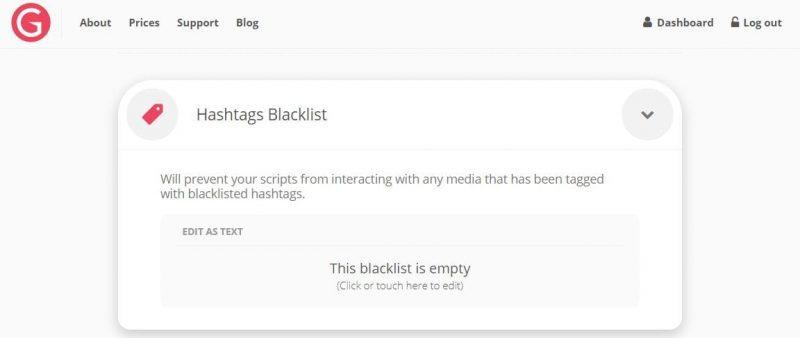 Si può anche fare in modo da eliminare alcuni profili dal delisting portato avanti dal bot utilizzando la blacklist