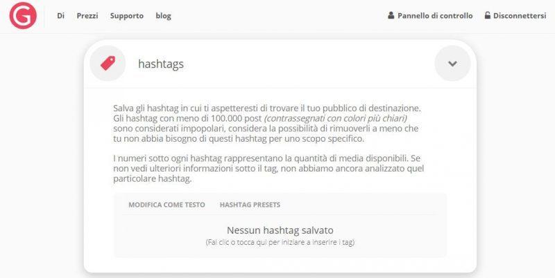 Sarebbe sempre il caso di limitare la ricerca per gli hashtag a quelli che abbiano molte interazioni
