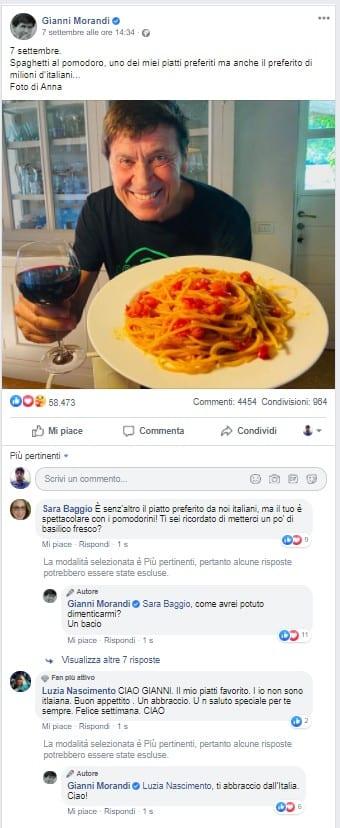 Gianni Morandi diventare influencer