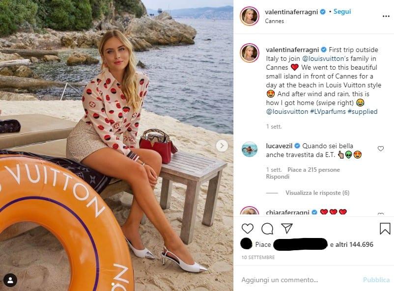 quanto guadagna un influencer Valentina Ferragni