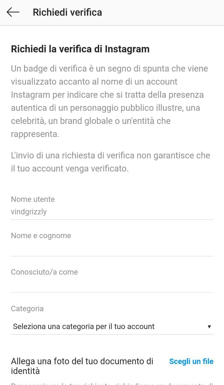 Verifica Instagram 5
