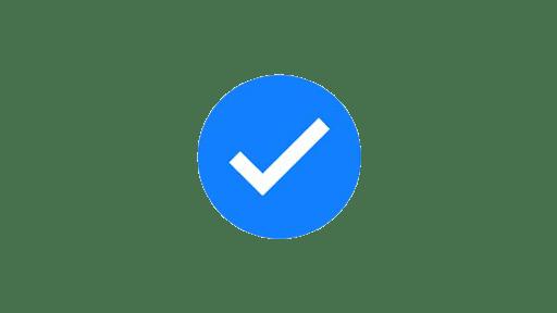 Spunta blu su Facebook logo