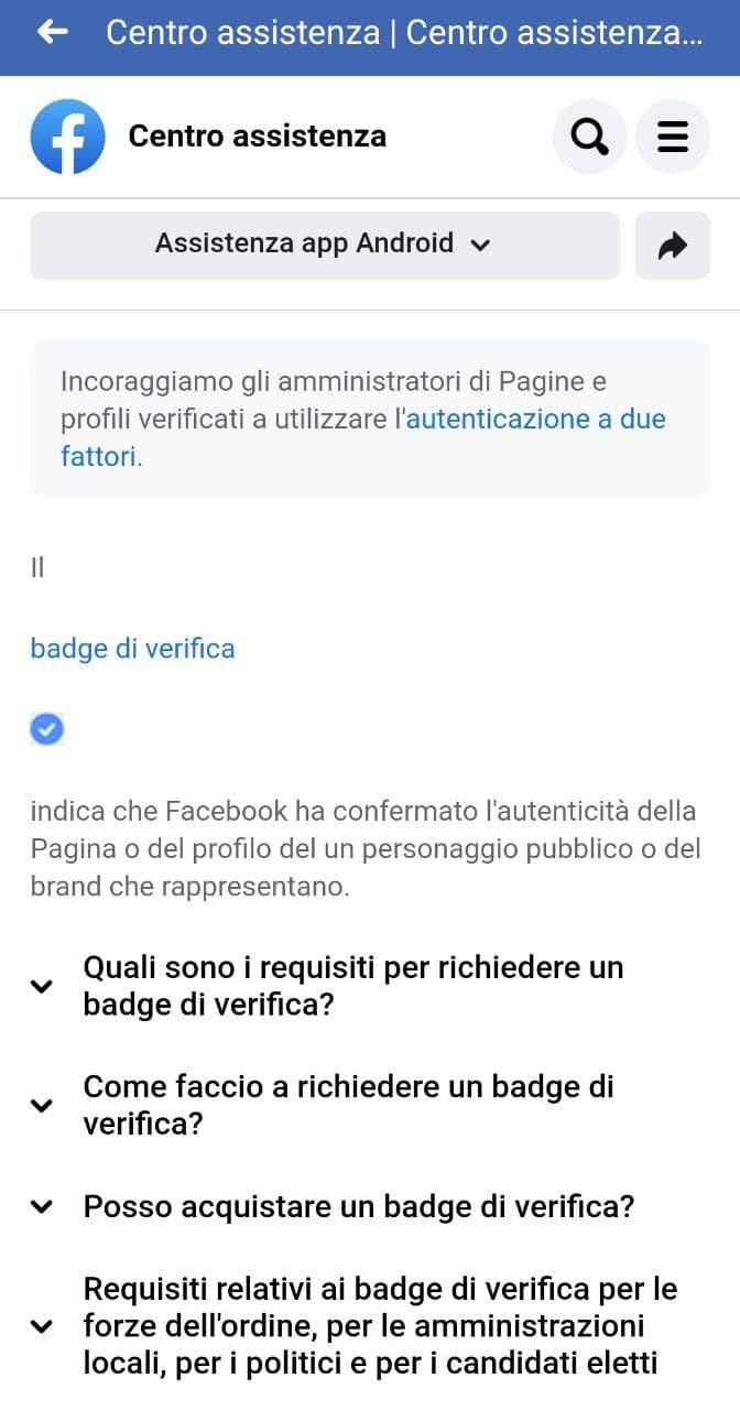 Badge di verifica su Facebook step 6