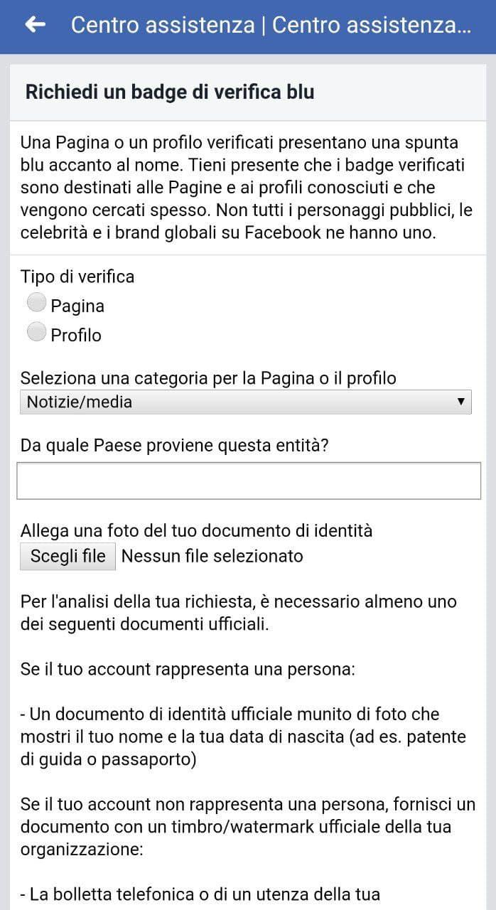 Badge di verifica su Facebook step 8