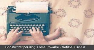 ghostwriter per blog