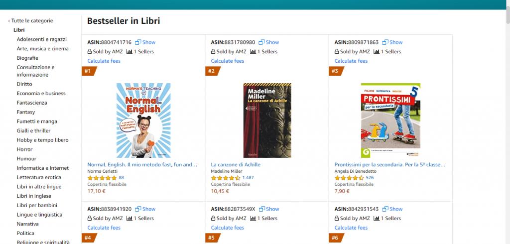 Bestseller Libri Amazon