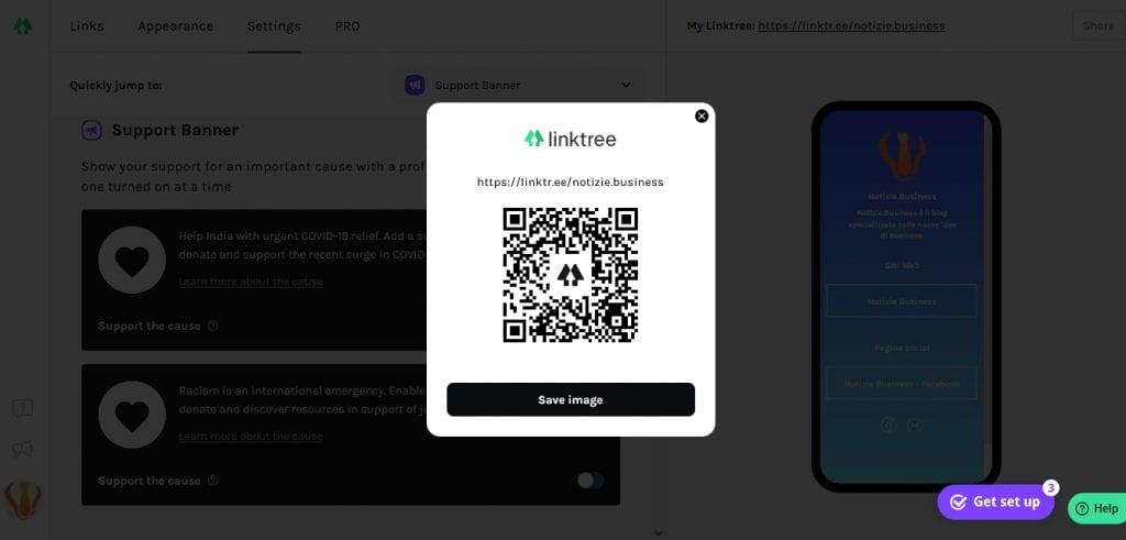 Linktree QRcode